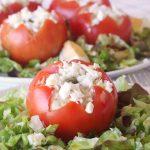 Tomates rellenos de pasta de atún