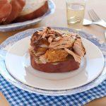Lomo de bonito adobado al horno con batata