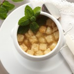 Sopa de picadillo de pollo