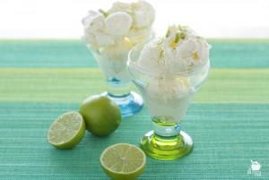 helado de mascarpone y lima