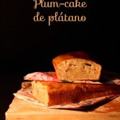 Plum-cake de plátano y nueces