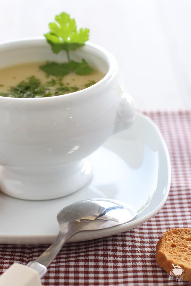 crema de bubango con cilantro