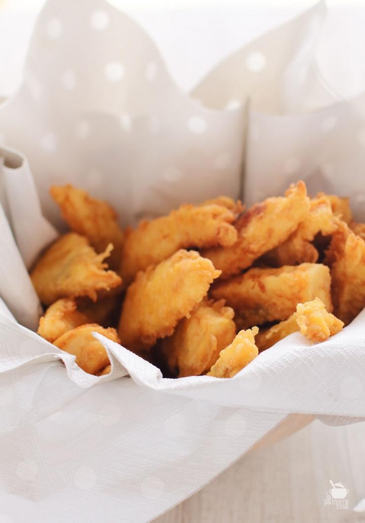 filetes de gallo en tempura