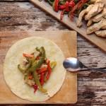 """Tacos de pollo con """"rajas"""", auténtico sabor mexican"""