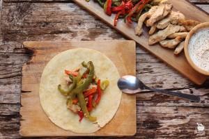 tacos de pollo con rajas