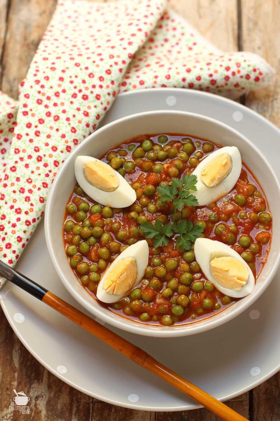 receta de arvejas compuestas un plato de la cocina