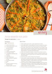 receta de arroz amarillo con pollo