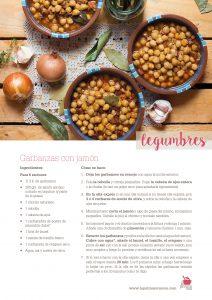 Ficha receta garbanzas con jamón