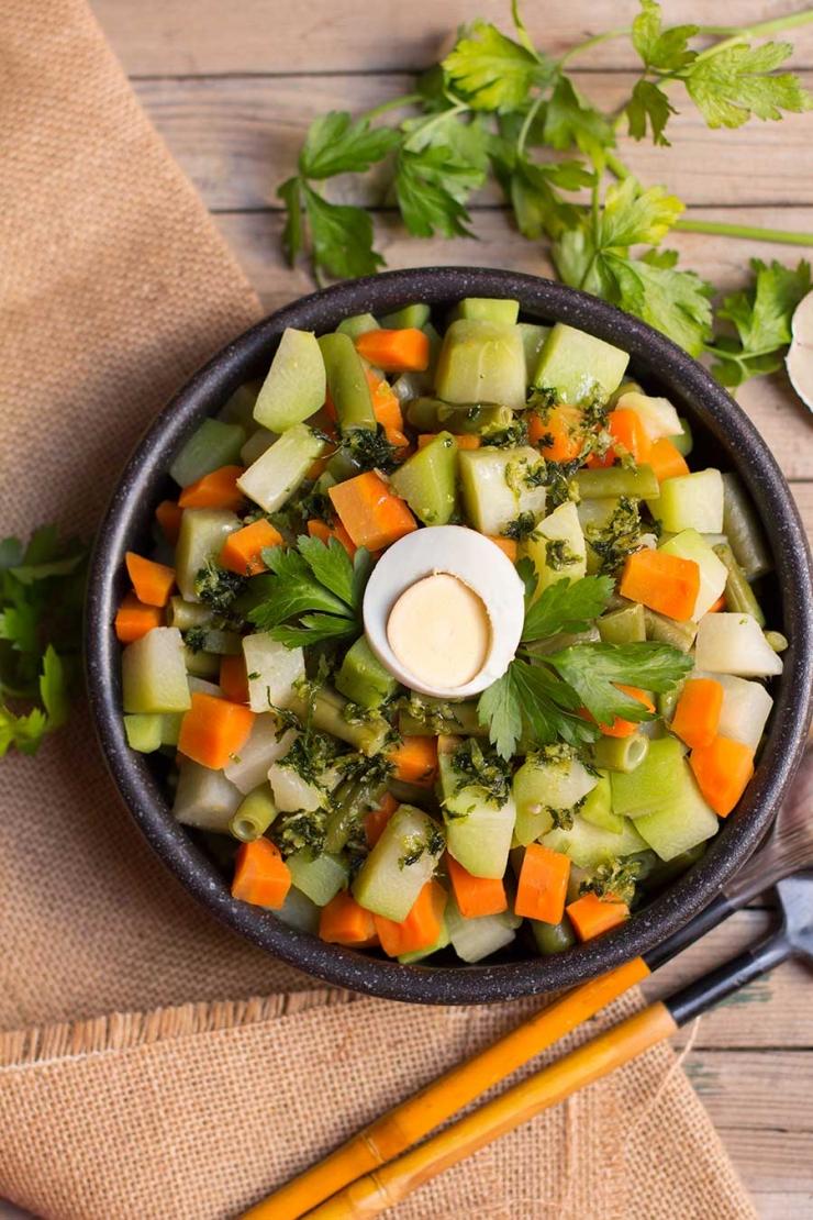 verduras salteadas con ajo y perejil