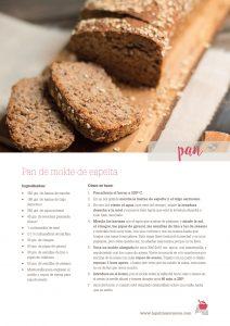 ficha descargable receta pan de espelta