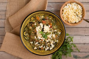 ensalada de lentejas estilo árabe