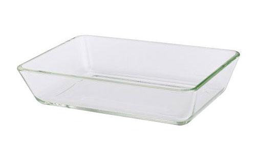 molde rectángular de vidrio