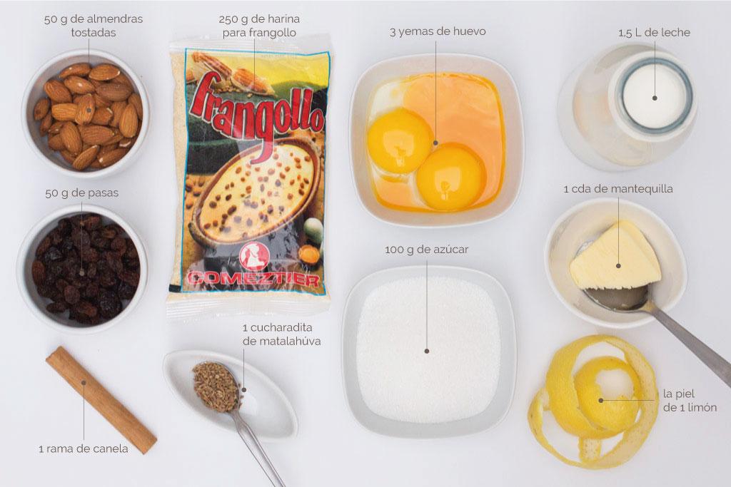 ingredientes para hacer frangollo