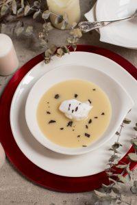 sopa de nieve-crema de papa negra