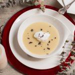 """""""Sopa de nieve"""", crema de papa negra con trufa"""