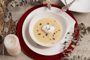 sopa de nieve o crema de papa negra