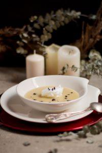 sopa de nieve-crema de papas negras