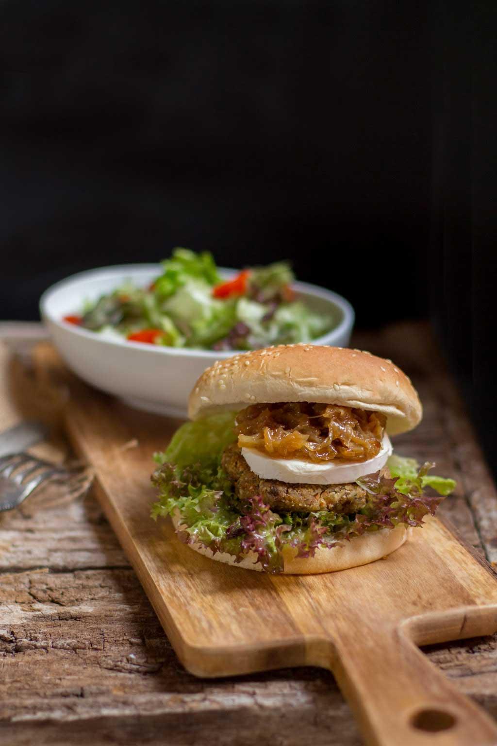 hamburguesa de soja texturizada