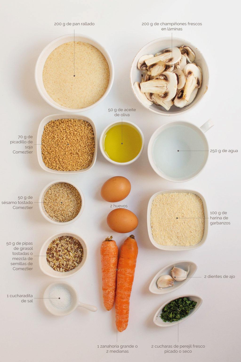 ingredientes para hacer hamburguesas de soja