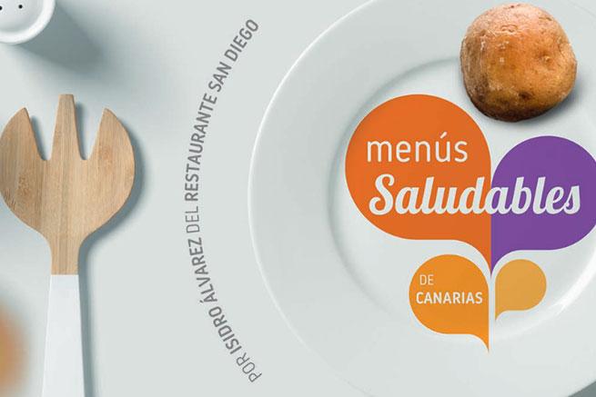 guías menús saludades de Canarias