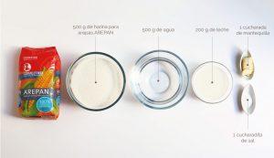 ingredientes para hacer arepas