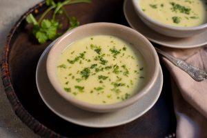 crema de coliflor con curry y cilantro