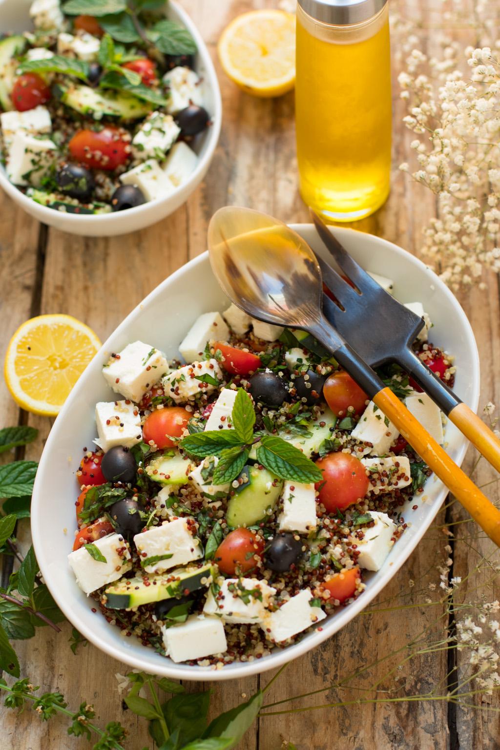 Ensalada de quinoa tricolor