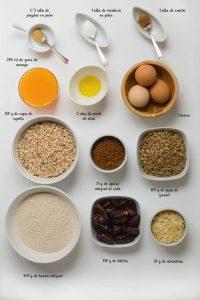 Ingredientes barritas energéticas