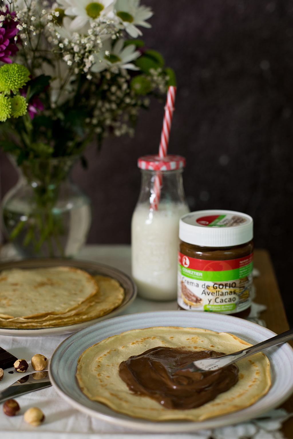 crema de gofio, avellanas y cacao Comeztier