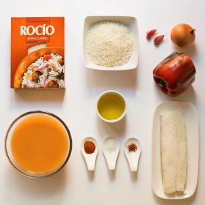 ingredientes para hacer un arroz con bacalao