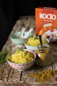 receta de arroz al curry con arroz Rocío