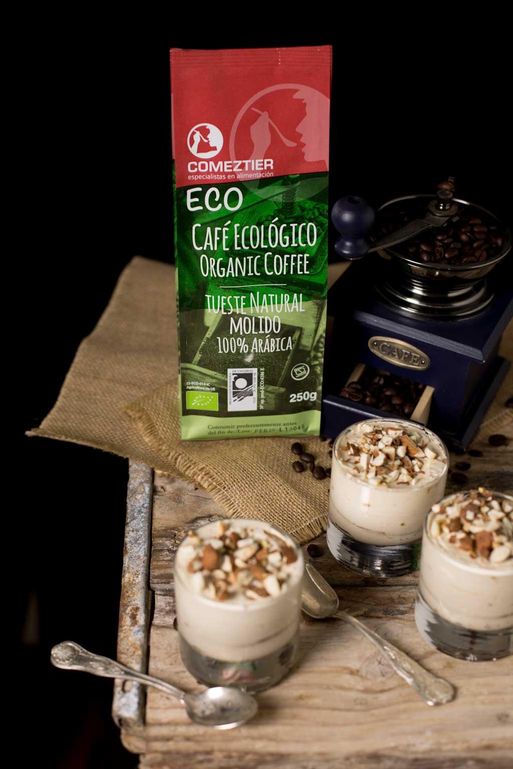 postre-de-cafe con café ECO de Comeztier