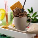 helado de chocolate y café
