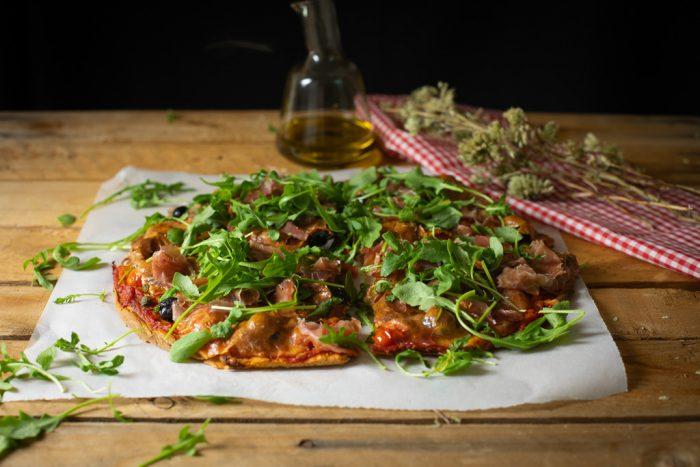 pizza con harina integral de espelta