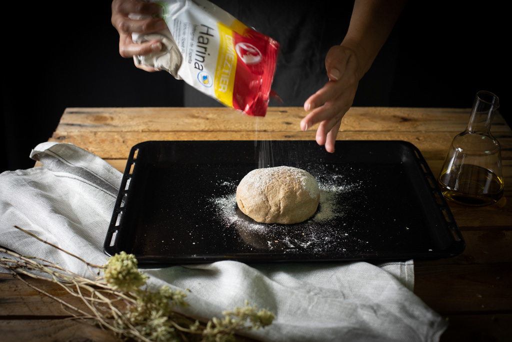 masa de pizza integral de espelta