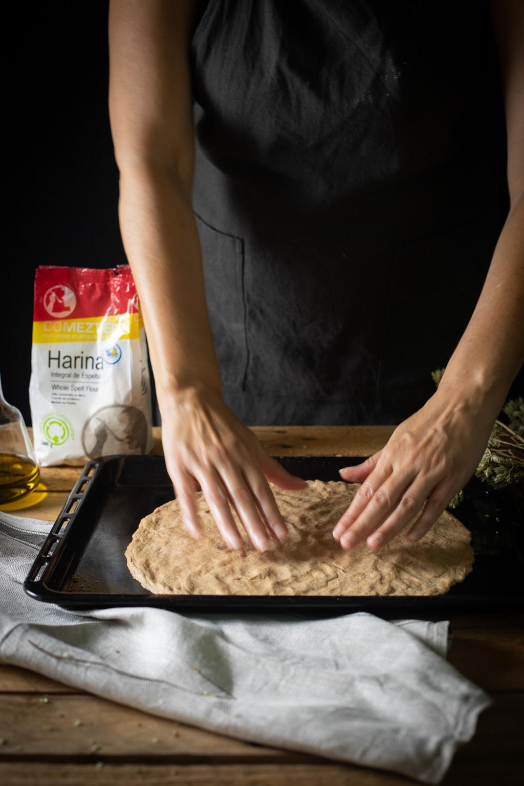 cómo hacer masa de pizza con harina integral