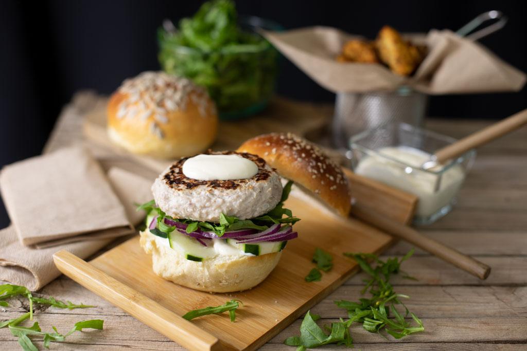 hamburguesa de atun