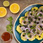 ensalada de naranjas y cebolla
