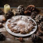 Estrella brioche rellena con crema de gofio, avellanas y cacao